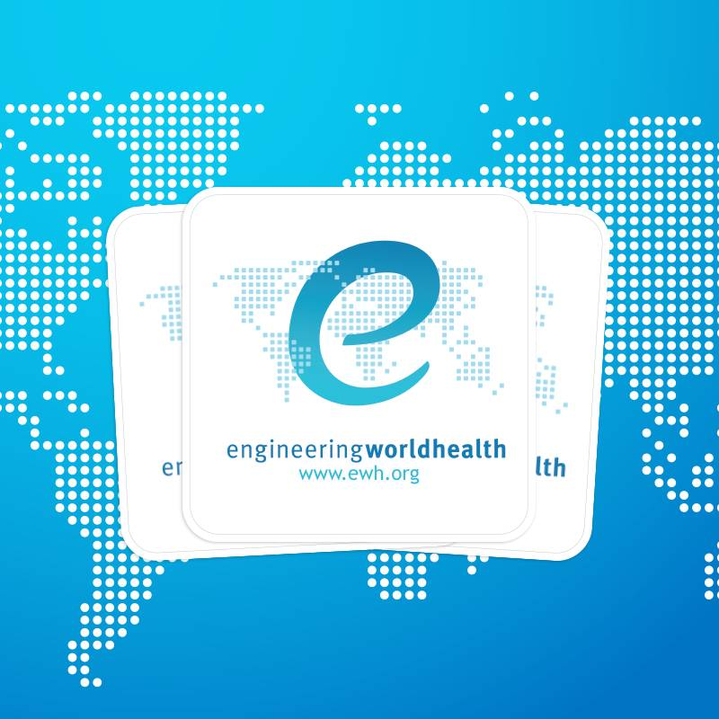 Engineering World Health Rounded Corner Stickers