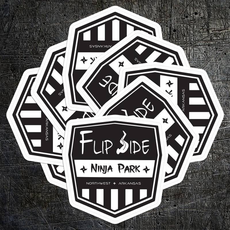 Flipside Ninja Park Die Cut Stickers