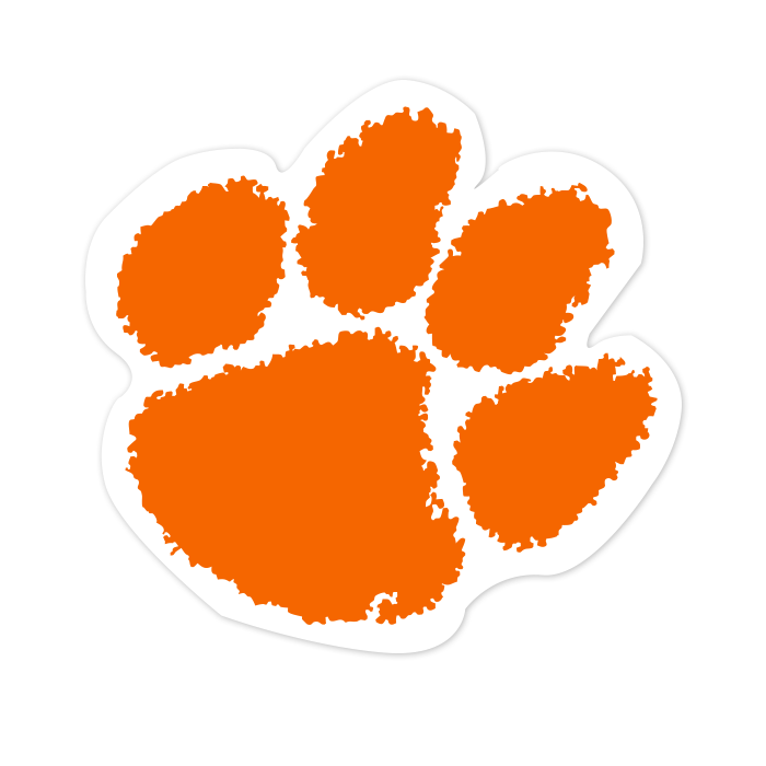 Clemson Tigers NCAA Logo Sticker