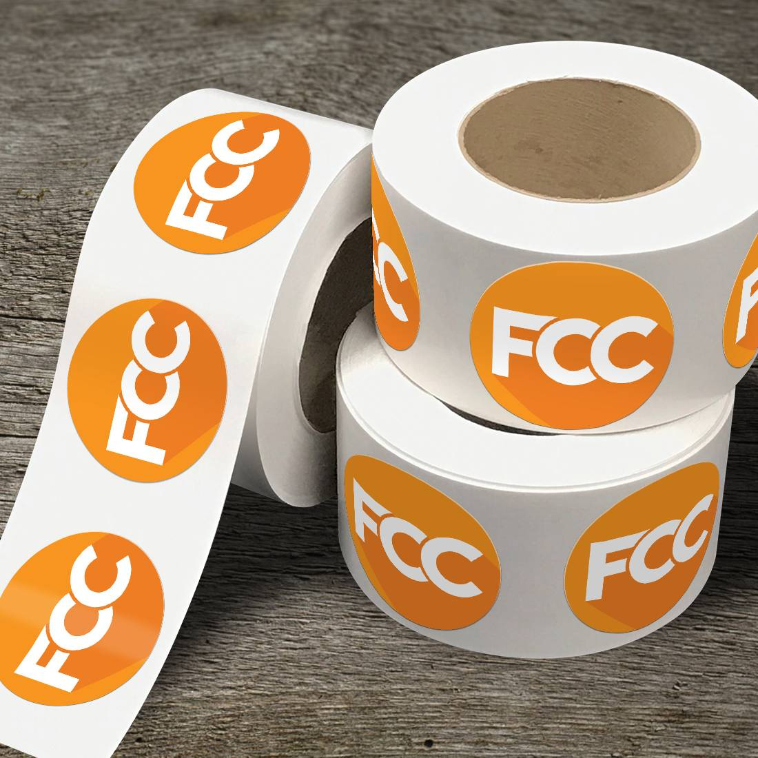 FCC Circle Sticker Rolls