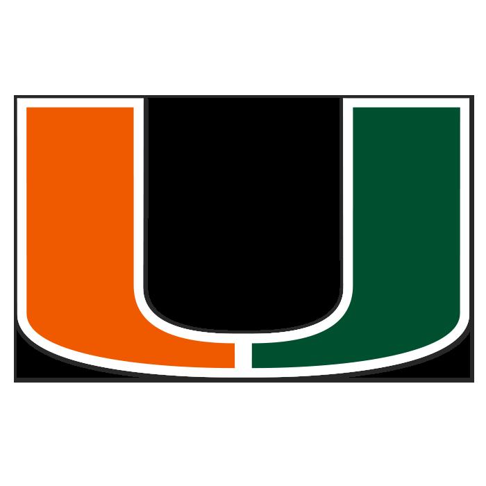 Miami Hurricanes NCAA Logo Sticker