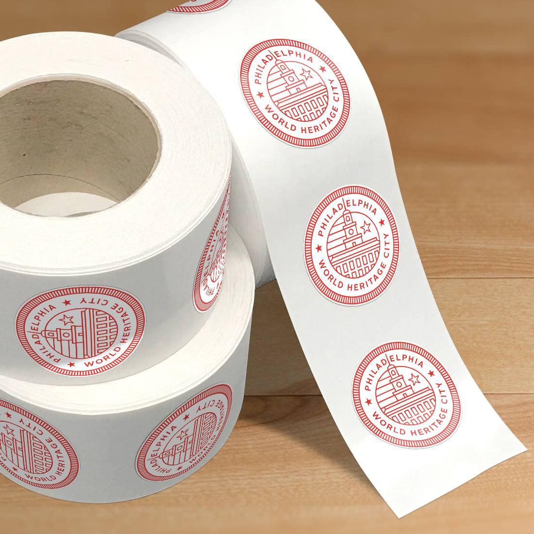 Philadelphia Circle Sticker Rolls