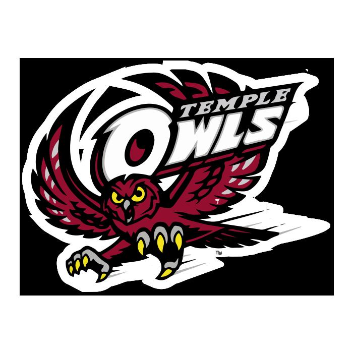 Temple University Owls NCAA Logo Sticker