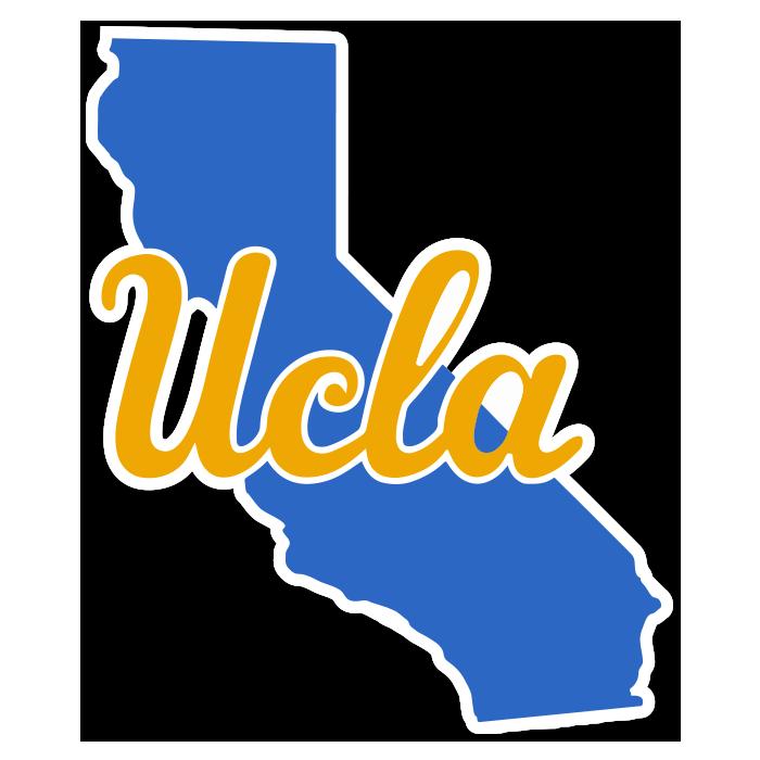 UCLA Bruins State Shape NCAA Sticker