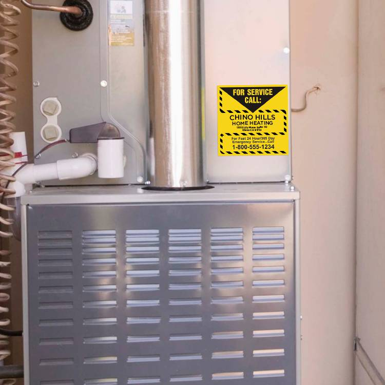 Heating Service Permanent Sticker