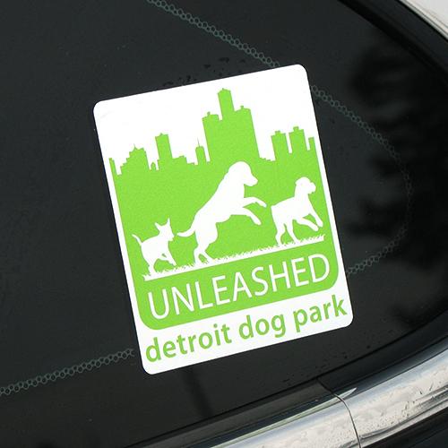 Unleashed Detroit Dog Park Custom Rounded Rectangle Stickers