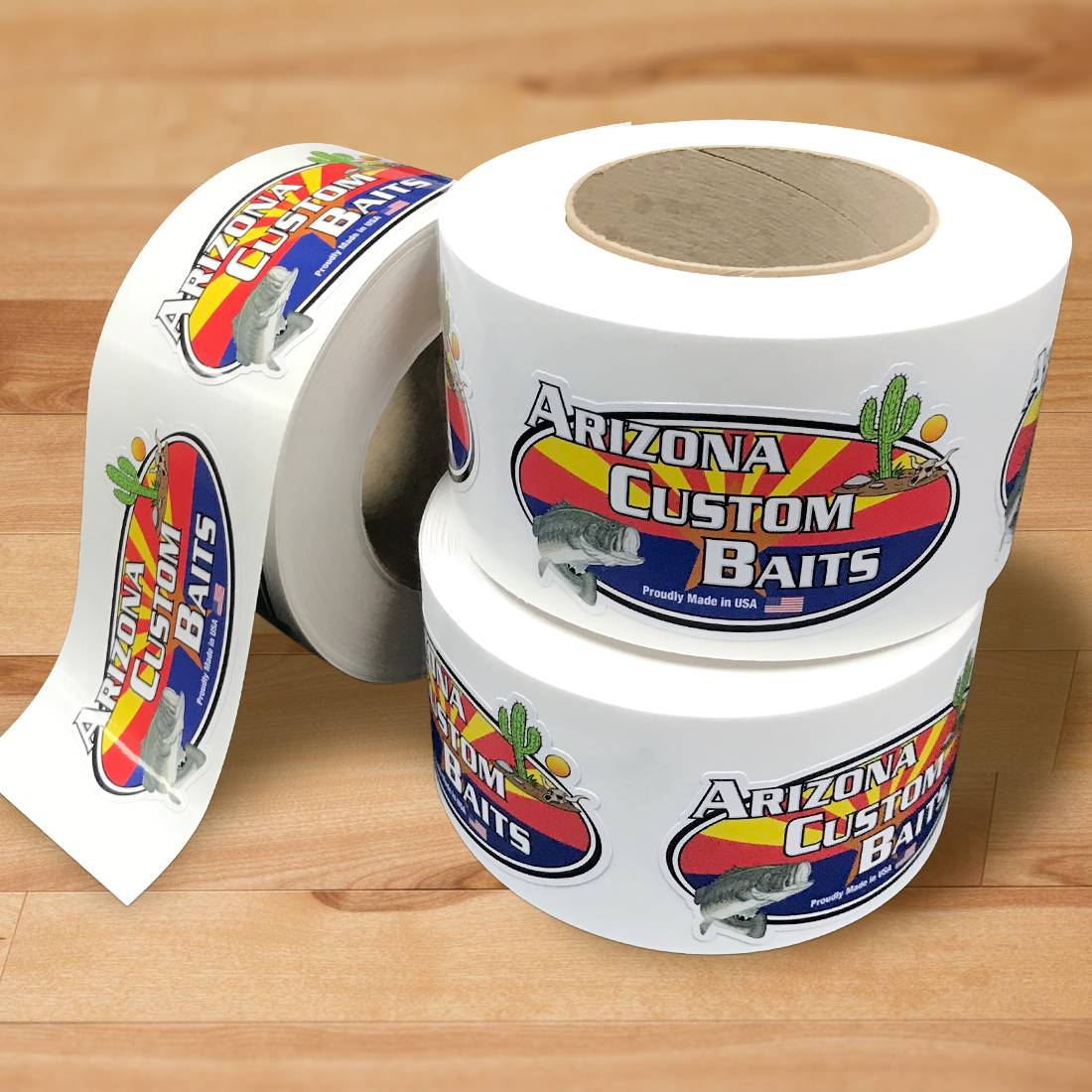 Arizona Custom Baits Oval Stickers