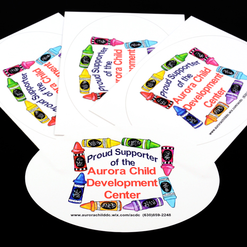 Aurora Child Development Center Custom Oval Stickers