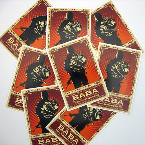 BABA Custom Rectangle Stickers