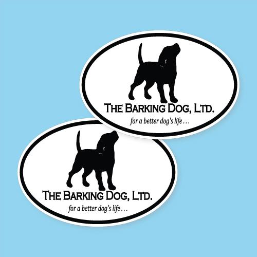 The Barking Dog, LTD. Custom Oval Stickers