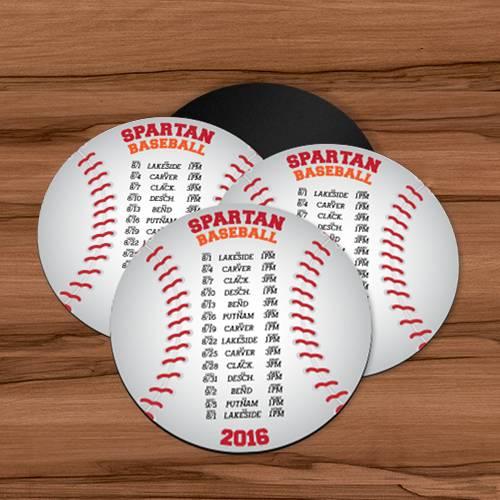 Sports Schedule Custom Circle Magnet