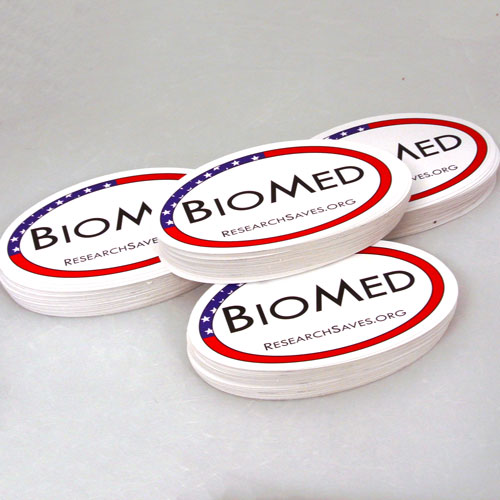 Biomed Custom Oval Stickers