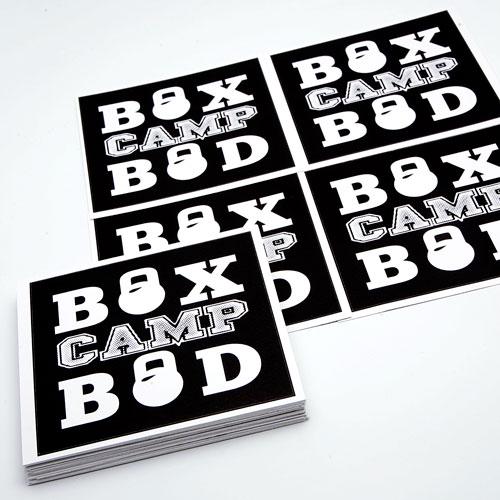 Box Camp Bod Custom Rectangle Stickers
