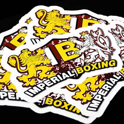 Imperial Boxing Die Cut Sticker