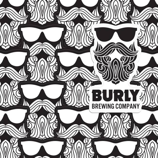Burly Brewing Company Die Cut Stickers