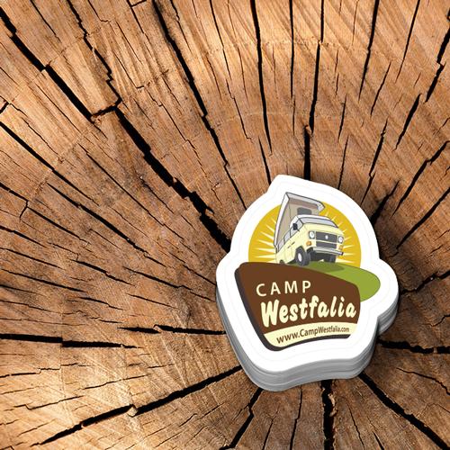 Camp Westfalia Custom Die Cut Stickers