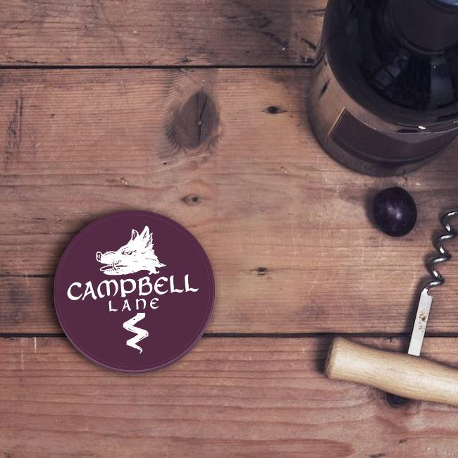 Campbell Lane Winery Circle Stickers