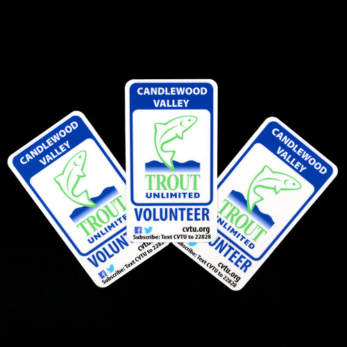 Candlewood Valley Trout Unlimited Custom Rectangle Stickers