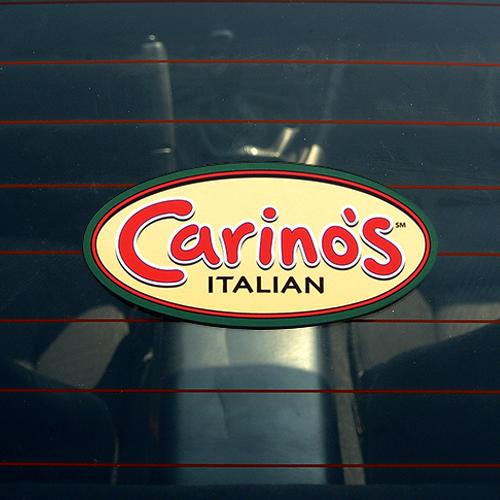 Carino's Italian Custom Oval Stickers