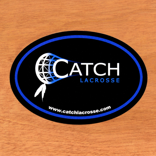 Catch Lacrosse Custom Oval Stickers