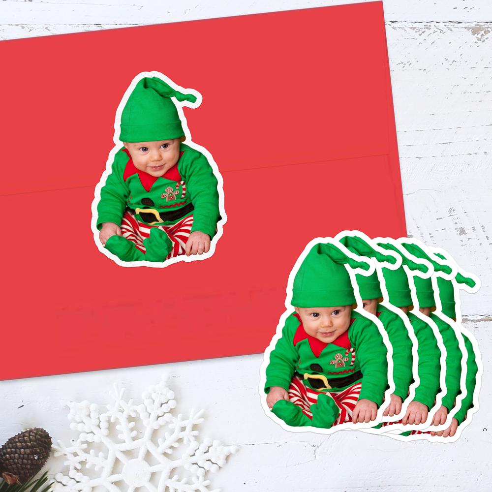 Christmas Baby Photo Sticker