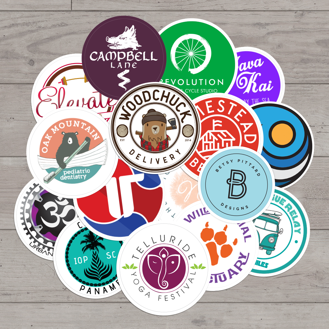 Custom Circle Sticker Collection