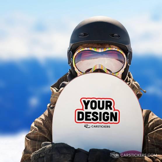 Clear Diecut Snowboard