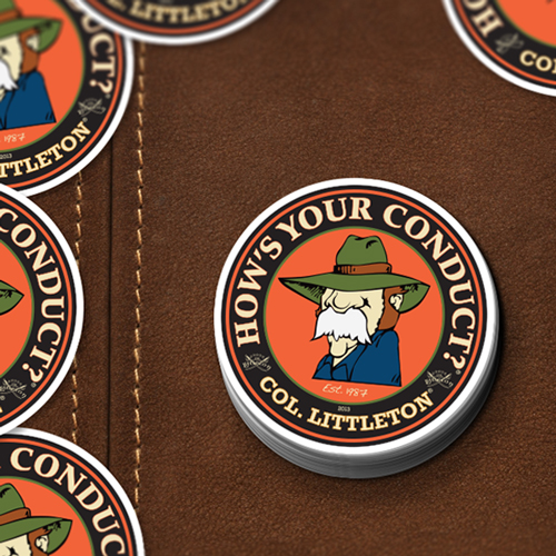 Colonel Littleton Custom Circle Stickers