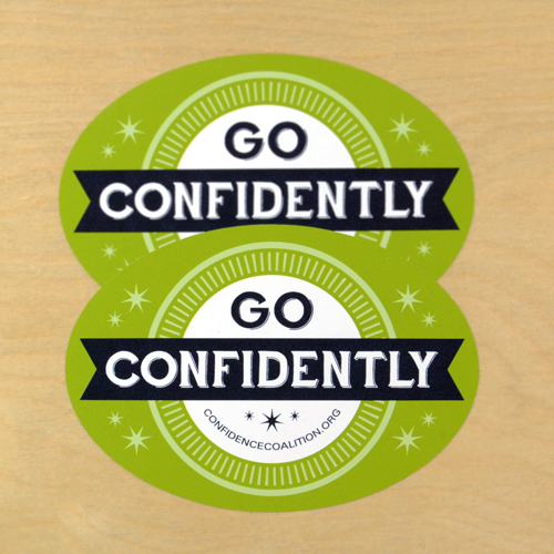 Confidence Coalition Custom Oval Stickers