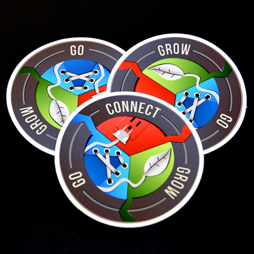 Connect Grow Go Circle Stickers