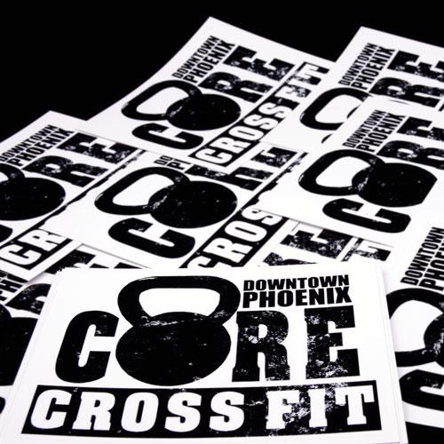 Core Crossfit Custom Rectangle Stickers