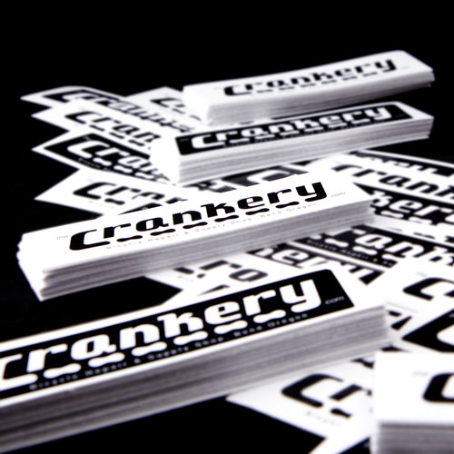 The Crankery Custom Rectangle Stickers