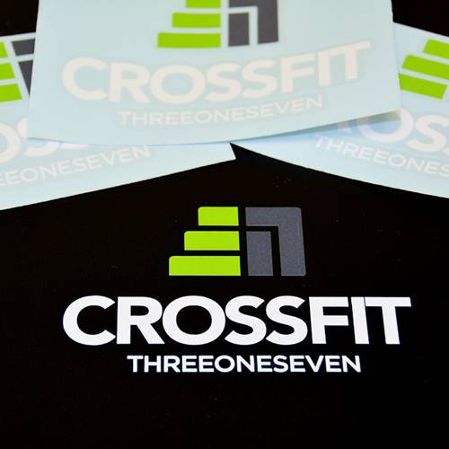 Crossfit 317 Multi Color Transfer Sticker