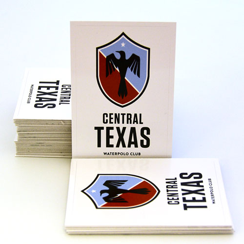 Central Texas Waterpolo Club Custom Rectangle Stickers