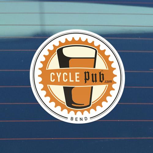 Cycle Pub Bend Custom Circle Stickers