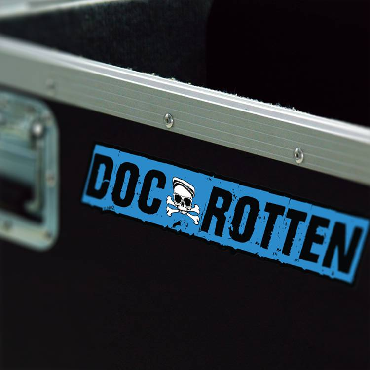 Doc Rotten Permanent Adhesive Music Case Sticker