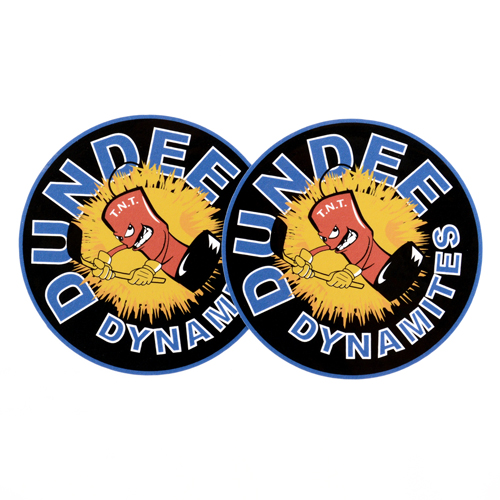 Dundee Dynamites Custom Circle Stickers