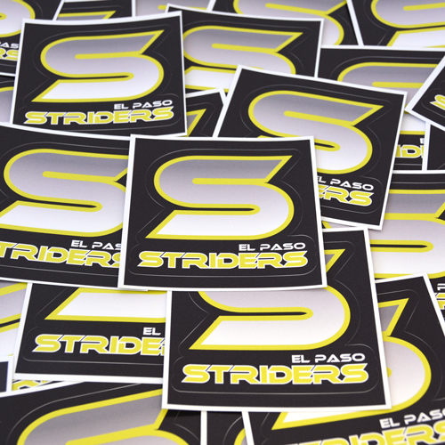 El Paso Striders Custom Die-Cut Stickers