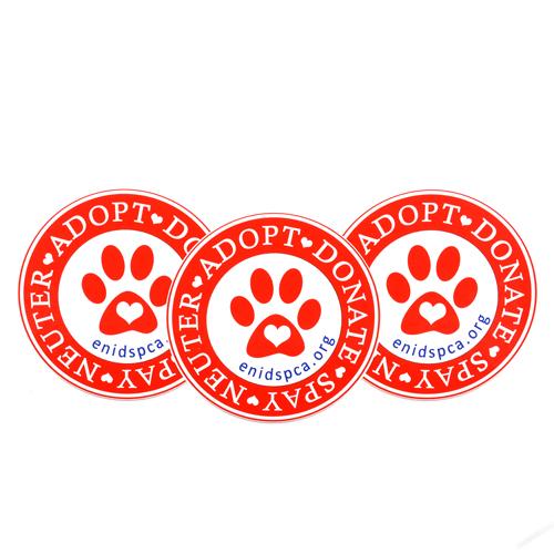 Enid SPCA Custom Circle Stickers