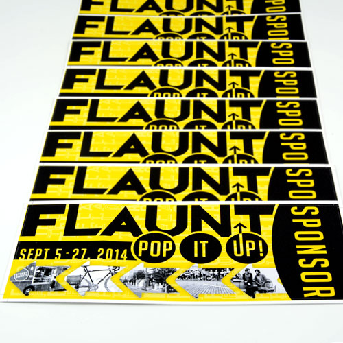 Flaunt Pop It Up Sponsor Custom Rectangle Stickers