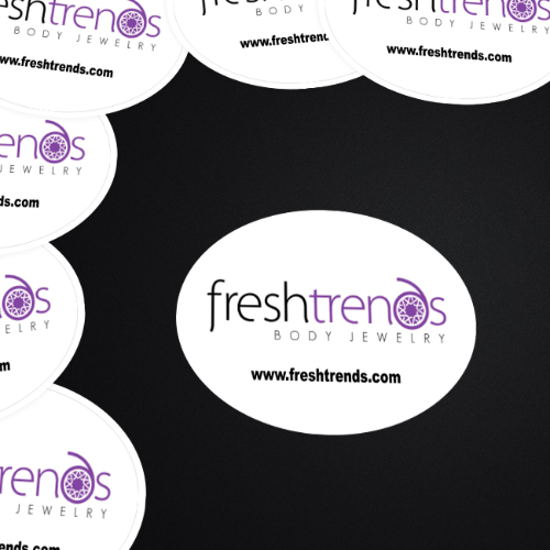 Fresh Trends Custom Oval Stickers