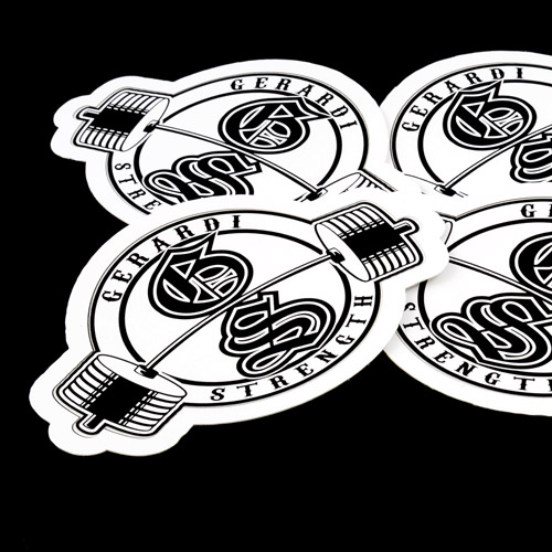 Gerardi Strength Custom Die Cut Stickers