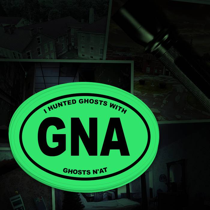 Glow in the Dark Ghost Hunter Sticker