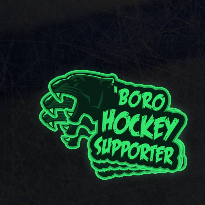 Glow in the Dark Hockey Supporter Sticker