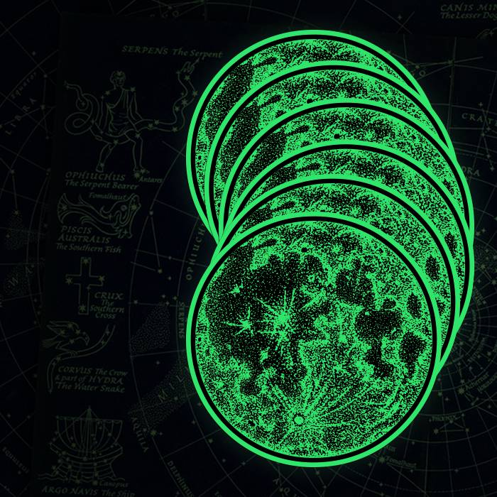 Glow in the Dark Moon Stickers