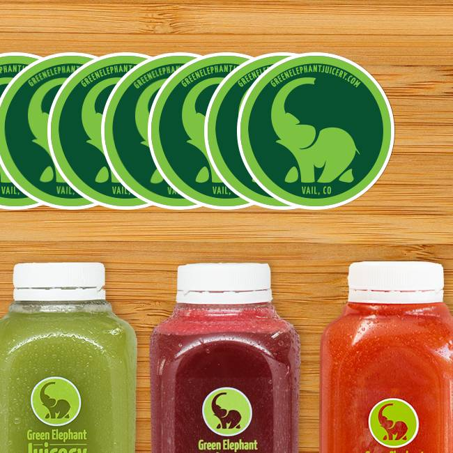 Green Juicery Circle Stickers