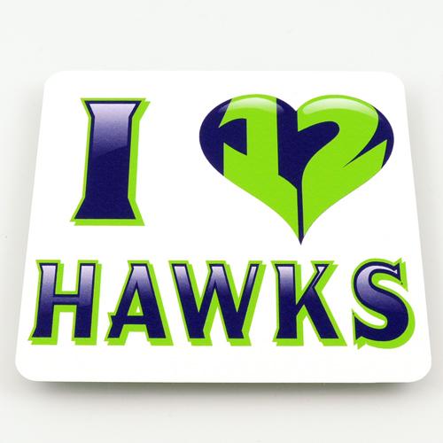 Hawks 12th Man Custom Rectangle Stickers