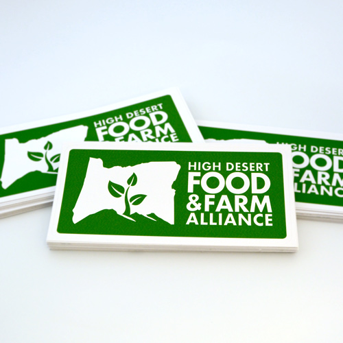 High Desert Food and Farm Alliance Custom Rectangle Stickers
