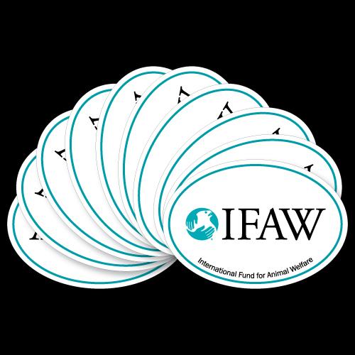 IFAW Custom Oval Stickers