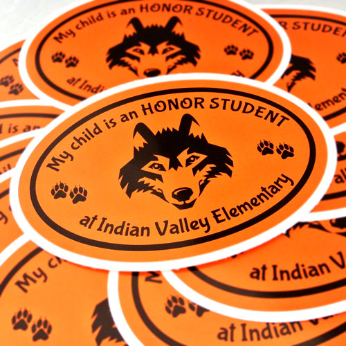 Indian Valley Parent's Club Custom Oval Stickers